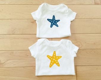 Starfish Bodysuit / Unisex Baby Clothes / Beach / Ocean Theme / Sea / Baby Clothes