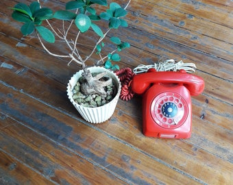 Vintage Red Ericsson Rotary Phone