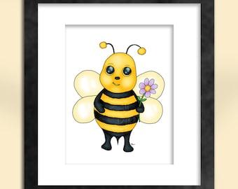 Baby Bee Art Print