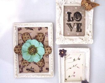 Romantic Bohemian Mini Ornate Frame Magnets Set
