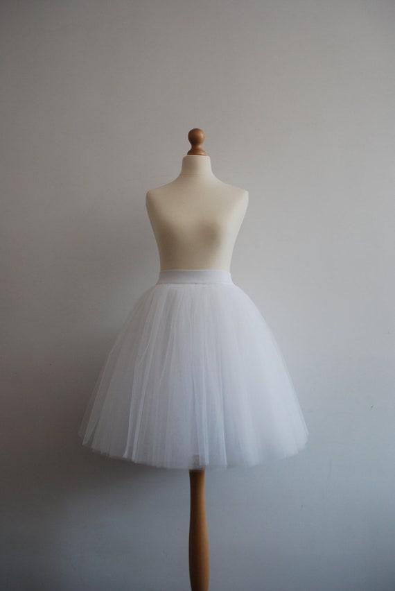 White swan - simple white tulle skirt