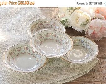 ON SALE Rosenthal Majesty Dessert Bowls Set of 4, Romantic Cottage Style, Fine Bavarian China Bowls Weddings, Berry Bowls, Sauce Bowls