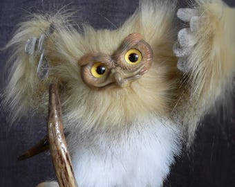 Owl FOR ORDER. Realistic soft toys. Soft sculpture. OOAK. Stuffed animals. Art doll