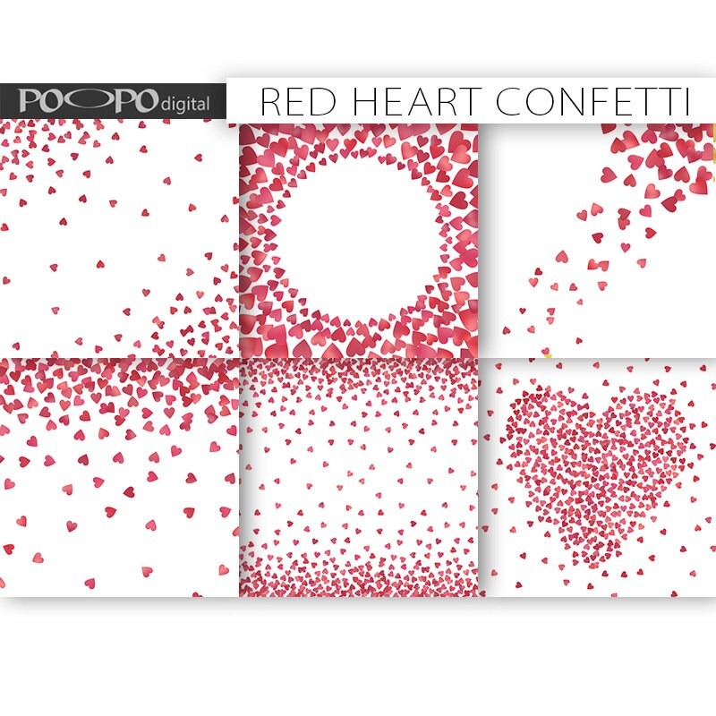 Heart confetti digital paper frames border card design making heart confetti digital paper frames border card design making invitation template invite scatter love pink red glitter foil valentines day stopboris Choice Image