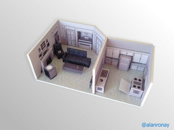 I love lucy apartment scale model 623 e 68th street - 623 east 68th street ...