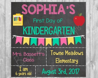 First Day of School Poster 12x12 - Digital