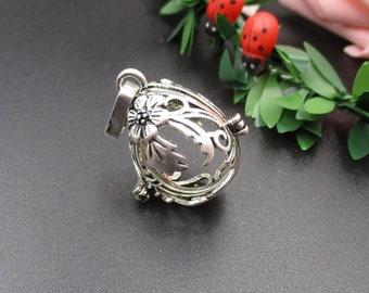 1Pcs 27×20×20mm Pumpkin Cage Pendant,Suitable For 16mm Beads-p1652