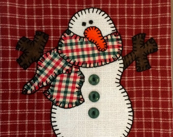 Christmas Tea Towel, Christmas Snowman Applique Christmas Tea Towel, Dish Towel, Hand Towel, Kitchen Towel, Christmas Decor, Christmas Gift