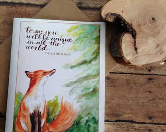Fox and Little Prince set of four cards