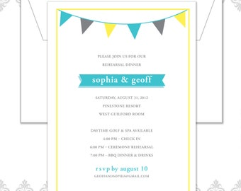 Banner Rehearsal Dinner Invitation