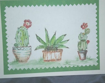 Southwest Trio watercolor note card