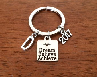 Personalized graduation gift for her, high school graduation gift for him, college graduation, graduate keyring daughter graduation keychain