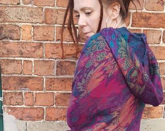 Indian Fleece Festival Poncho Wrap