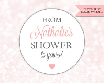 From my shower to yours stickers - Soap labels - From my shower to yours labels (RW077)