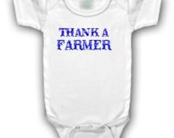 Thank a Farmer baby onesie