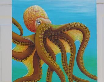 Octopus Original Acrylic Painting