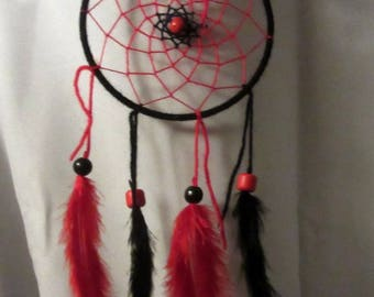 Dream catcher black and Red / actual 40 cm