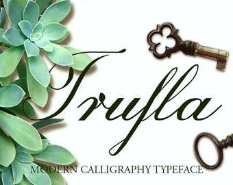 Digitale Schrift | SOFORTIGER DOWNLOAD | Trufla Schrift | Echte Schriftart |