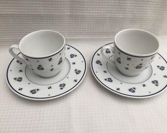 Heinrich Winterling Marktleuten Bavaria teacup set 2x  Unique