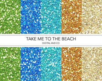 Digital Beach Glitter Pattern, Instant Download, Pattern for Photoshop, JPG included