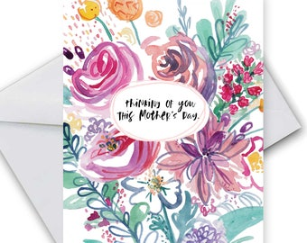 Honest Mother's Day Card- Thinking of you this mother's day- Greeting Cards