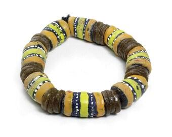 Handmade  Ghanaian Large Chevron Bead Bracelet