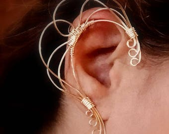 Orbital Run, Jewelry Ear Cuff, ear jewelry, ear climber, ear wrap, ear jacket, non pierced
