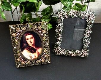 Picture Frames - Vintage Frames - Vintage Photo Frames - Vintage Home Decor - Photo Frames - Enamel Picture Frame - Modern Home Decor