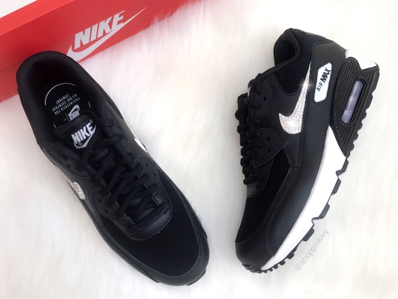 Max Air Blinged Shoes Shoes 90 Swarovski Swarovski Bling With Out Crystals Nike Black Nike Premium pw5En4nq