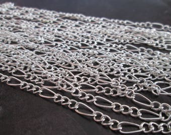curb chain silver mesh open sold by the yard