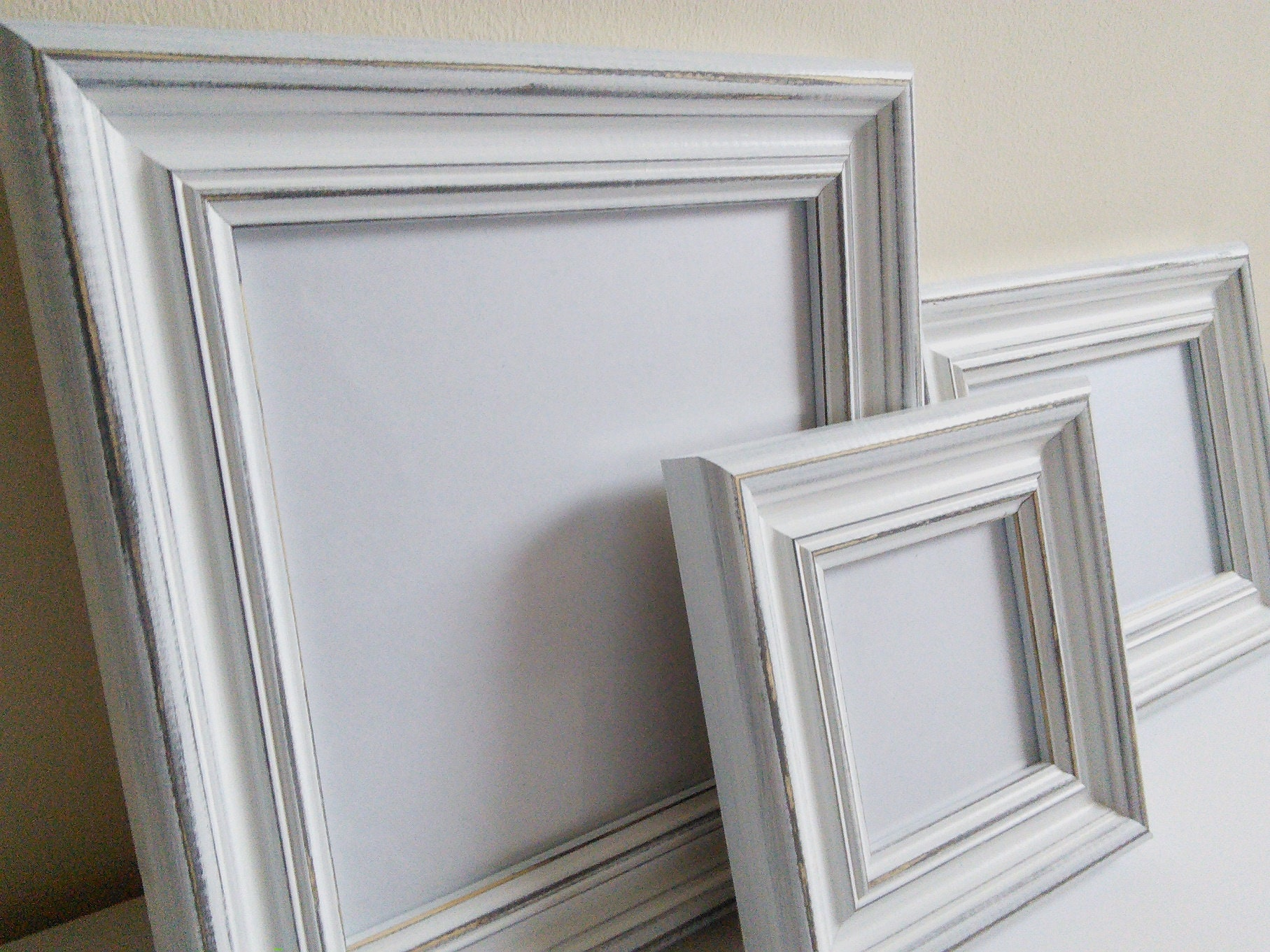Picture frame white distressed frame chunky frame A2 poster frame ...