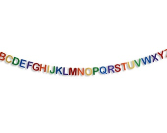 ABC Alphabet Rainbow Banner