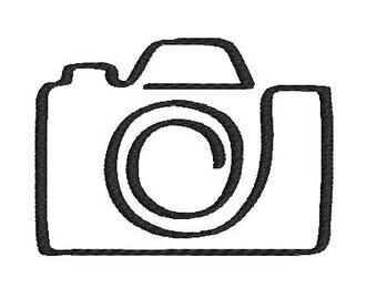 Camera machine embroidery design Instant Download