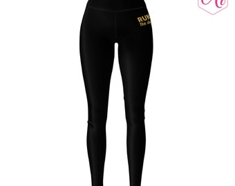 Run The Day Athletic Leggings, Women's Running Leggings, Women's Yoga Pants, Workout Clothes, Athletic Apparel