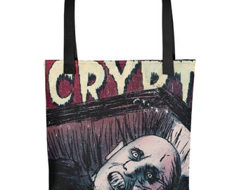 Mr Barlow Salem's Lot Tales From The Crypt Horror Movie Comic Book Mash Up Tote bag