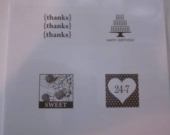 Pretty Postage clear mount stamp set from Stampin' Up!