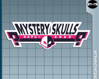 MYSTERY SKULLS Logo vinyl decal Sticker for just about anything!