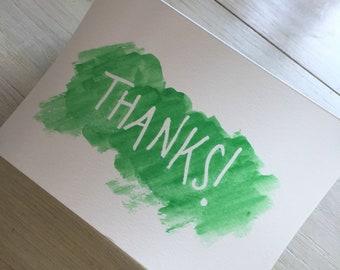 Thank you / Gratitude Watercolor cards