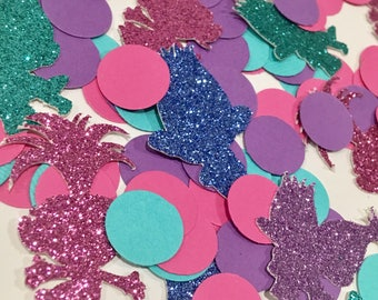 100pcs Trolls Glitter confetti, Trolls happy birthday confetti, Trolls cake party confetti, trolls party decorations