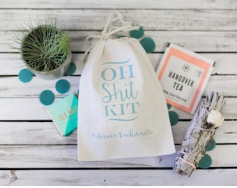 Custom Oh Shit Kit bags - Bachelorette Party Favor - Custom Bachelorette Survival Kit - Oh Shit Kit Bachelorette Party - Hangover Kit Bags