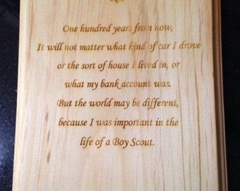Scout Leader Plaque #1