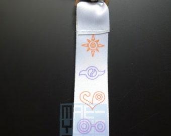 SHORT- Digital Crest Key Fob Lanyards
