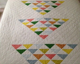 Modern flying geese quilt pattern PDF: great for beginners