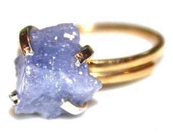 Rustic Tanzanite Ring Modern Ring Raw Tanzanite Ring Tanzanite Lavender Ring Lavender Jewelry Adjustable Ring Tanzanite Jewelry Delicate Mod