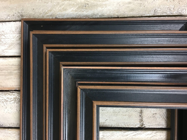EN venta - conjunto de marco de cuadro negro de conjunto rústico 5 ...