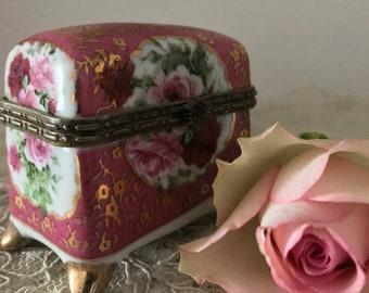 Vintage Staffordshire OC & Co trinket box