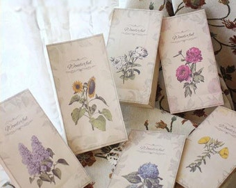 Floral Paper Bags, treat bags ,Craft Paper, Gift Bags, Wedding Party favor, Vintage paper bag, Packaging Bags, Vintage floral bag