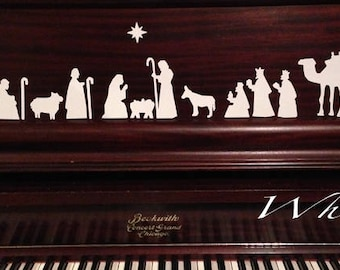 Vinyl Sticker Nativities - Perfect for holiday crafts, window and wall decor and more