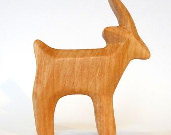 Goat, Wooden Animal, Carved Farm Animal, Waldorf Toy