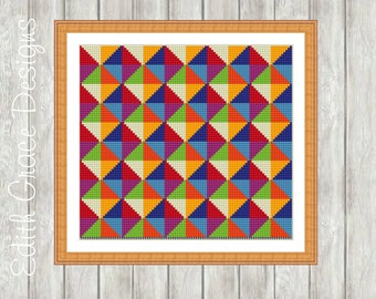 Needlepoint Pattern - Geometric Art - Modern Art - Sampler - Tapestry Pattern - Geometric Pattern - Embroidery Design - Tapestry Wool